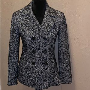 Guess Black White Coat Jacket Size Small 6